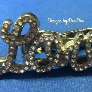 LOVE Rhinestone Knuckle Ring